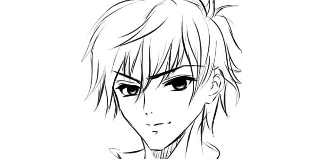картинки аниме девушки нарисованные карандашом